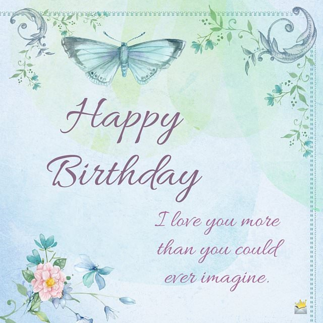 Birthday wish on retro image with butterfly