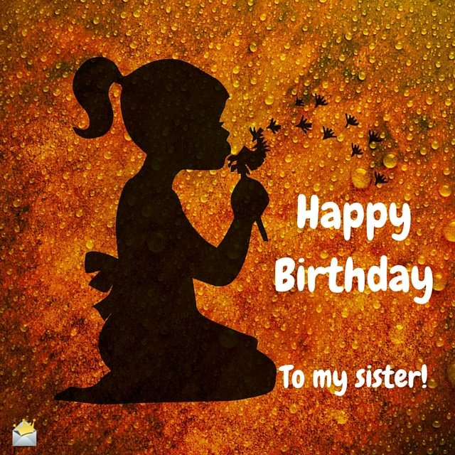 Happy Birthday to my sister!