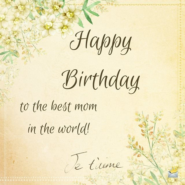 Happy Birthday Wish For My Mother On Retro Image