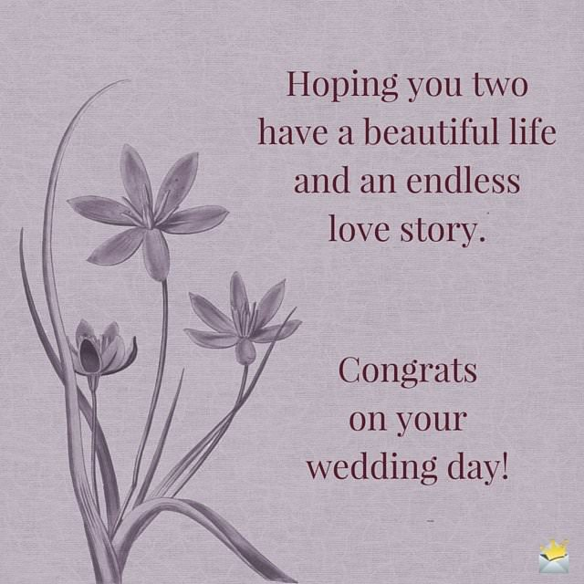 Wedding Day Wishes For A New Couple