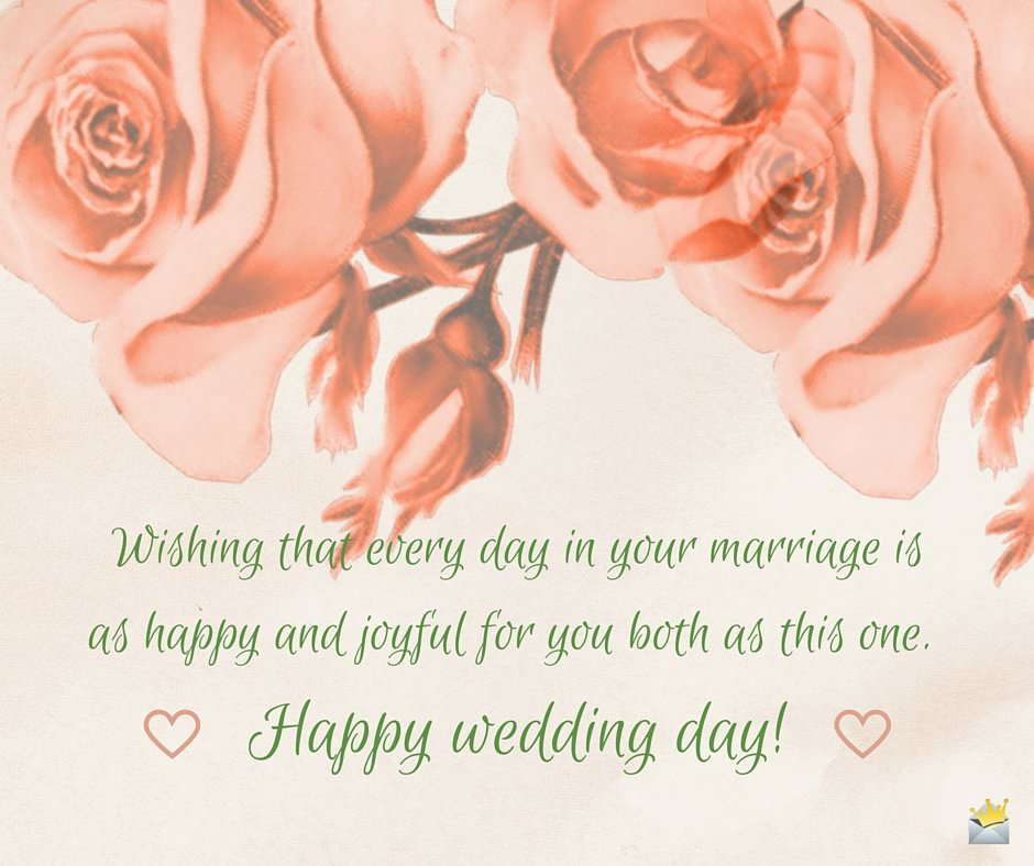 Wedding wishes messages for a newly married couple for Best day for a wedding