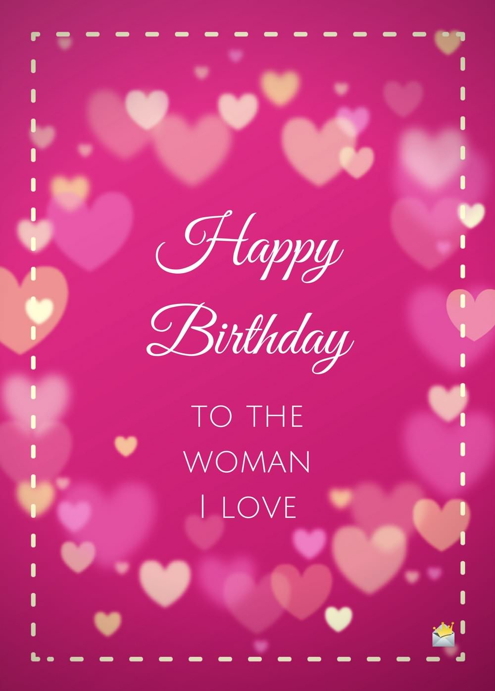 200 cute birthday messages to make them smile happy birthday to the woman i love kristyandbryce Image collections