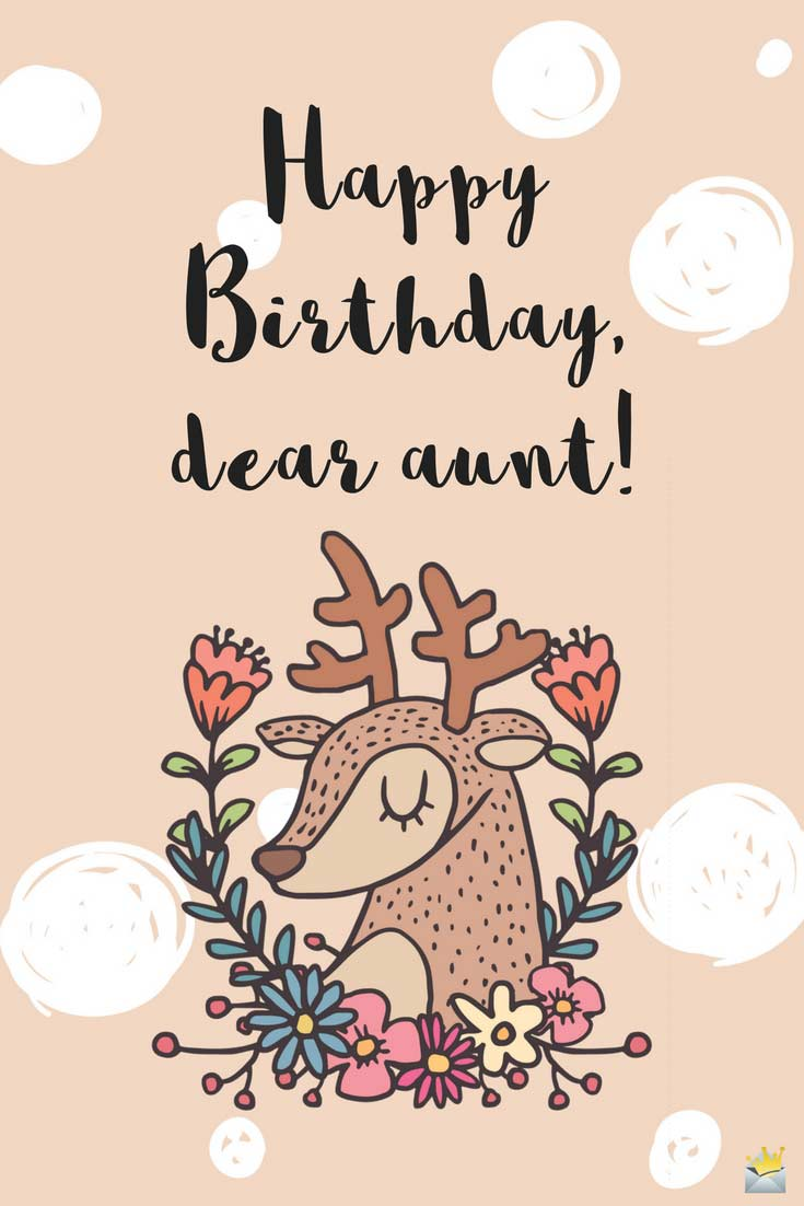 Happy Birthday, Auntie! | Sweet and Cute Wishes for Her