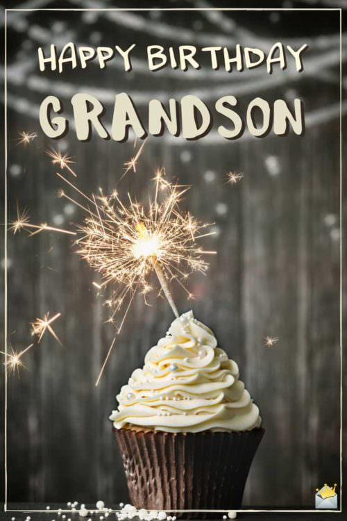Happy Birthday, grandson.