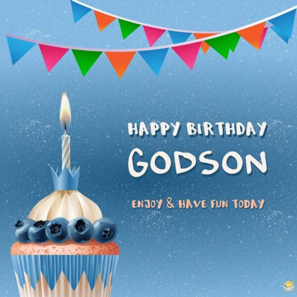 Happy Birthday, godson. Enjoy and have fun today.