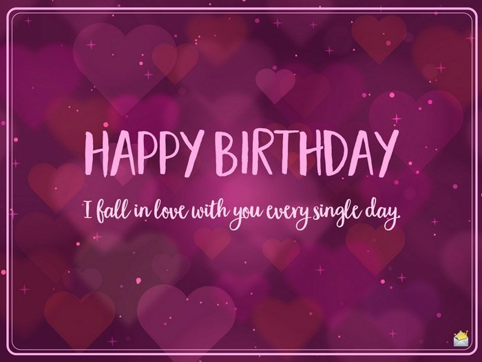 Birthday Wishes For Her Images ~ Romantic birthday wishes for lovers