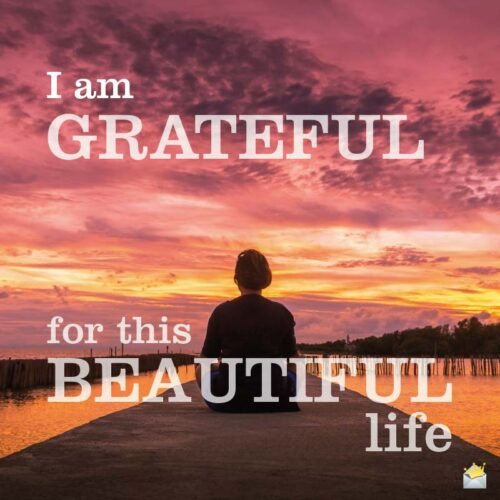 I am grateful for this beautiful life.