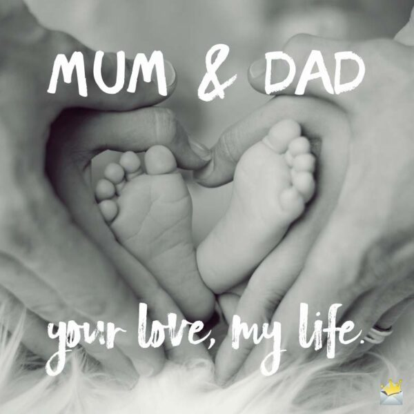 Mom & Dad, your love, my life.