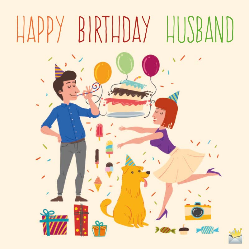Image of: Greeting Cards Happy Birthday Messages Happy Birthday Wishes For My Husband