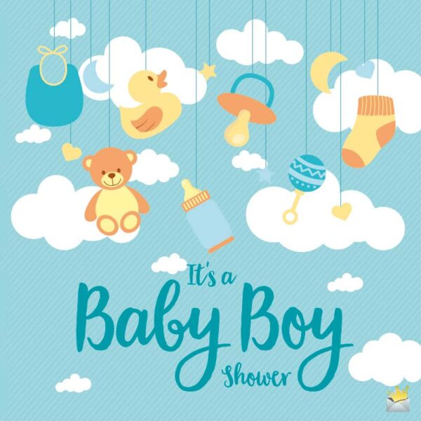 It's a Baby Boy Shower!