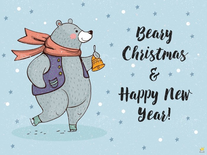 Beary Christmas and Happy New Year.