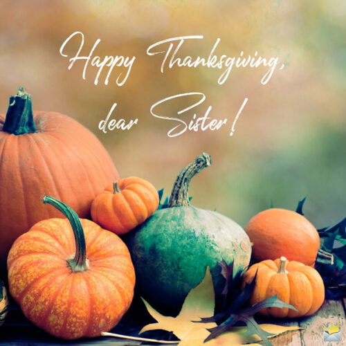 Happy Thanksgiving image for sister.