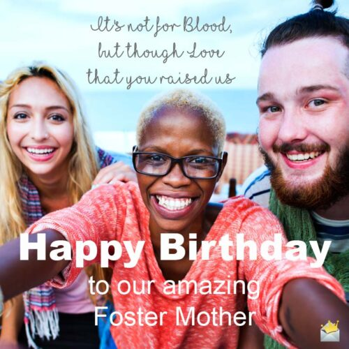 Happy Birthday to our amazing foster mom.