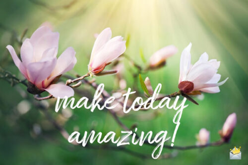 Make today amazing!