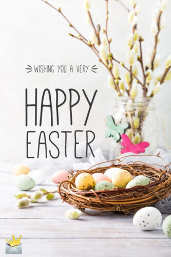 Wishing you a very Happy Easter.