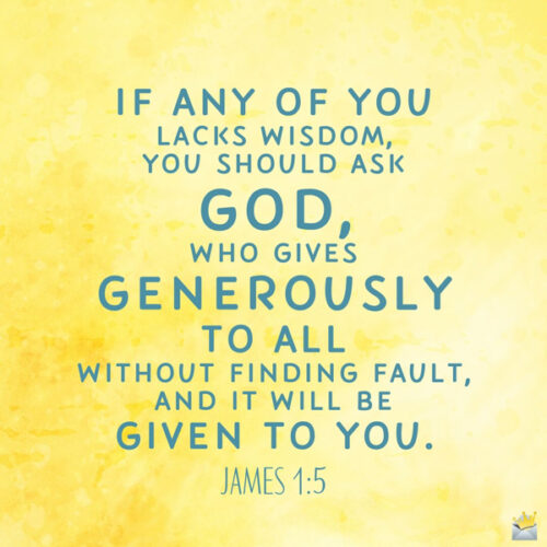 Bible verse for morning inspiration. On image for easy sharing.