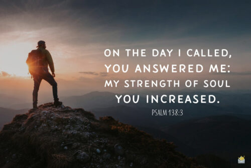Bible verse for morning inspiration and strength.