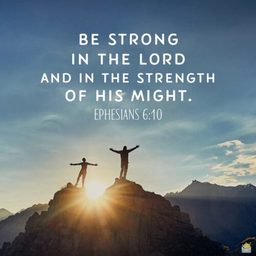 Bible verse for strength. On image for easy sharing.