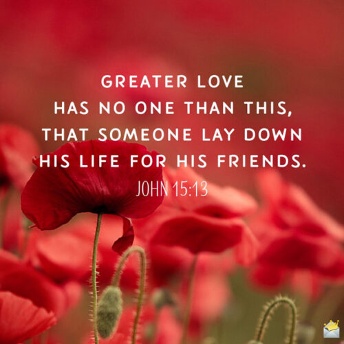Bible verse to give you strength. On image with flowers for easy sharing.