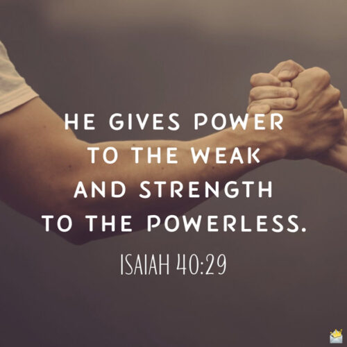 Bible verse for morning motivation on image for easy sharing.