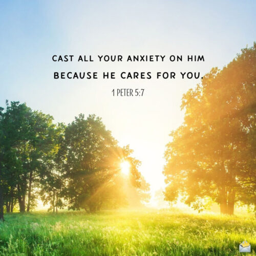 Positive bible verse for morning inspiration.