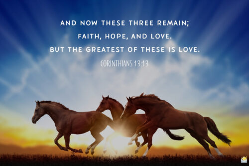 Bible verse about love for morning inspiration.