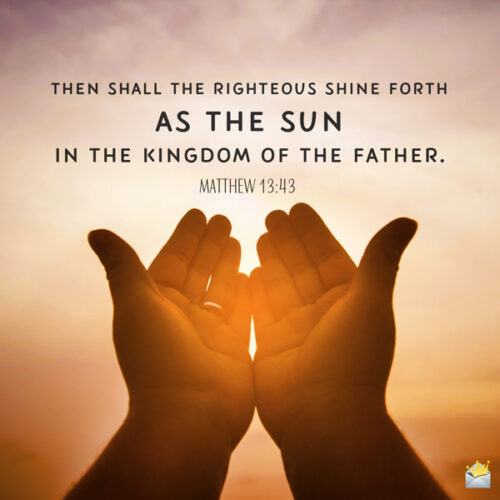 Bible verse for morning inspiration on image for easy sharing.