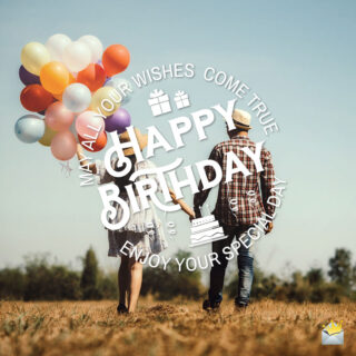 Birthday wish for a couple.