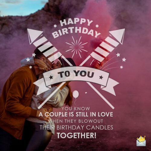 Birthday wish for a couple on image you can share on chats and posts.