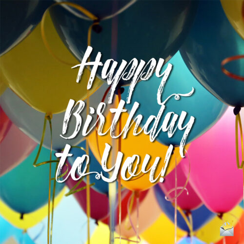 Birthday image for messages and chats.