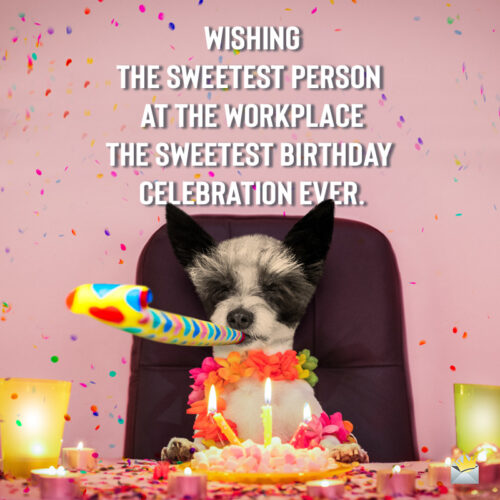 Funny birthday image for message to a colleague.