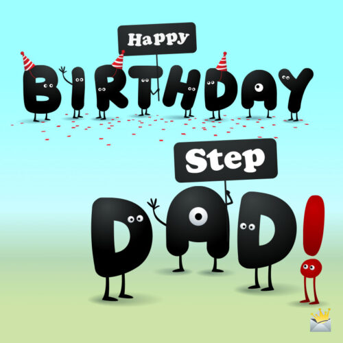 Funny stepfather birthday image.