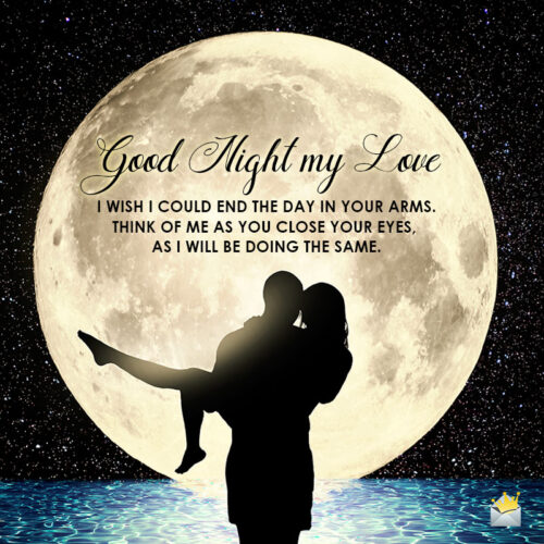 Good night message for her on image for easy sharing.