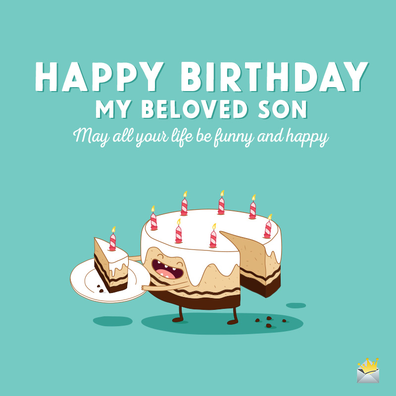 Brilliant Happy Birthday Wishes For Your Son Proud Parents Celebrating Personalised Birthday Cards Veneteletsinfo