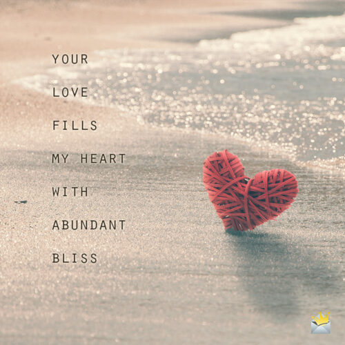 Love quote for my sweetheart.
