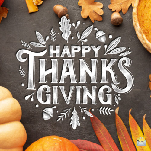 Happy thanksgiving image for chats and emails.