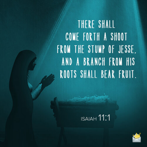 Christmas Bible quote for message, email or social media.