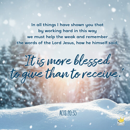 Christmas Bible quote for wishing.