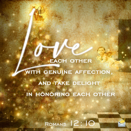 Christmas bible verse about love for wishing friends and family on social media, chats, messages or emails.