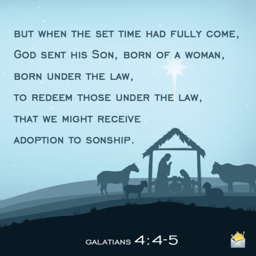 Christmas Bible verse for wishing on chat, message or email.
