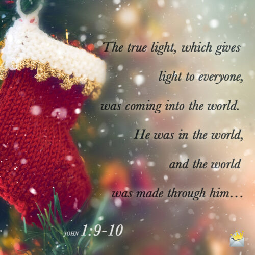 Christmas bible verse on image for easy sharing on social media, messages or chat.