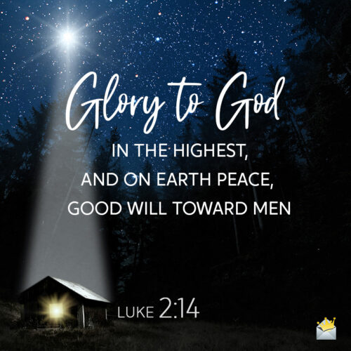 Christmas bible verse on image for chat, mails, messages or social media.