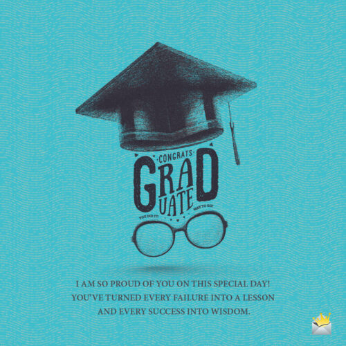 Graduation wish to use on messages, emails and social media.