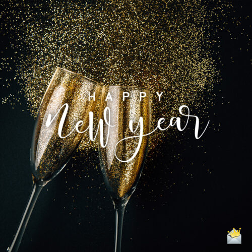 Happy New Year image for wishing on social media and chats.