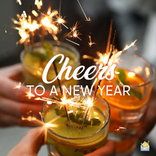 Happy New Year image to help you wish to friends and family on social media, chat, messages or email.