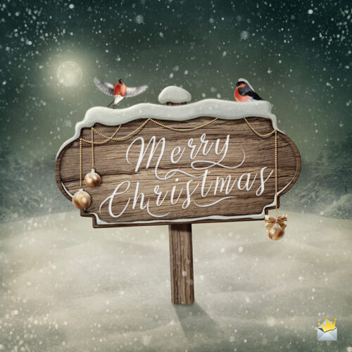 Christmas image to help you wish to friends and family.