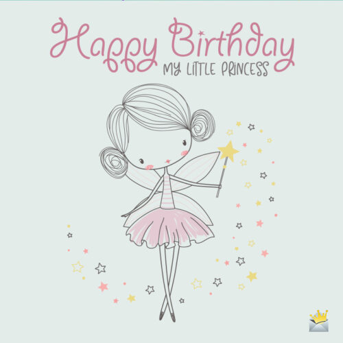 Cute illustration for the birthday of a baby girl or baby boy.