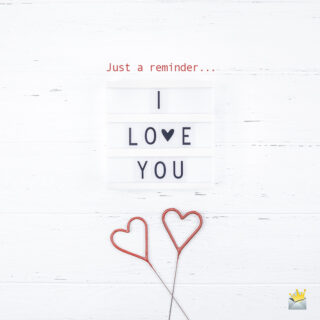 Cute Valentine's day message on image.