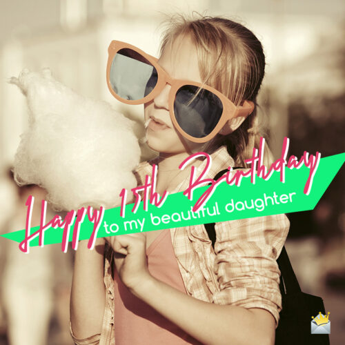 Image for 15th birthday of daughter.