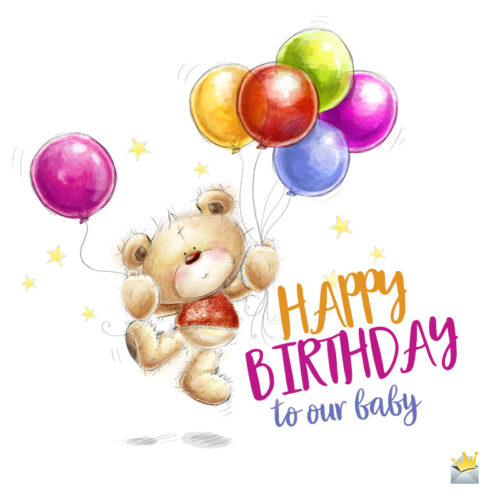 Cute birthday wish on image for easy sharing.